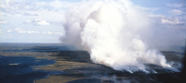 During the summer of 1973, in the Kaminak Lake region, daily temperatures were abnormally high in June and July and there was little precipitation (Shilts, 1975; and Shilts and Boydell, 1974). At 0500 hours on August 2, a short, strong thunderstorm passed over the countryside and lightning ignited several fires between Baker Lake and the Manitoba border.